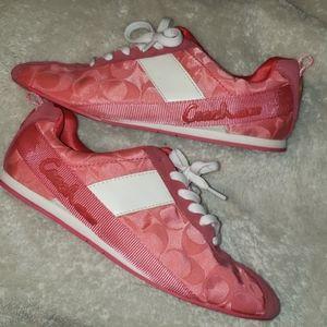 Pink coach shoes
